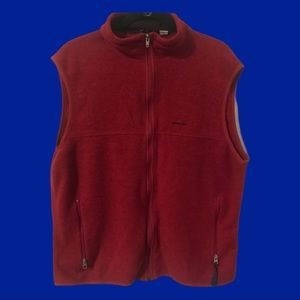 PATAGONIA vintage red vest  made in USA
